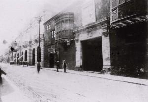 La Casa Olavide, en la calle Núñez, de la Imprenta del Estado entre 1913 y 1920.